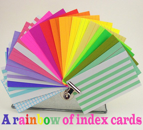 rainbow index cards *etsy* office supply find   May 23
