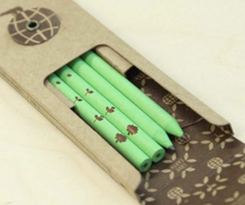 recycled paper green pencils *etsy* office supply find   May 25