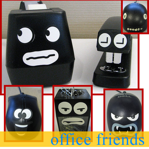 talking office supplies eyes at work