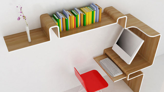Wooden All In One Desk