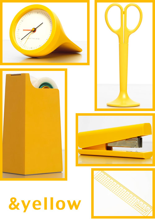 yellow office supplies Anything Design Office Supplies