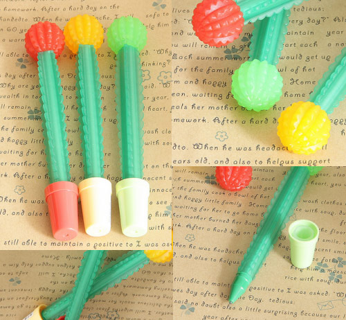 catcus pens Kawaii Office Supplies