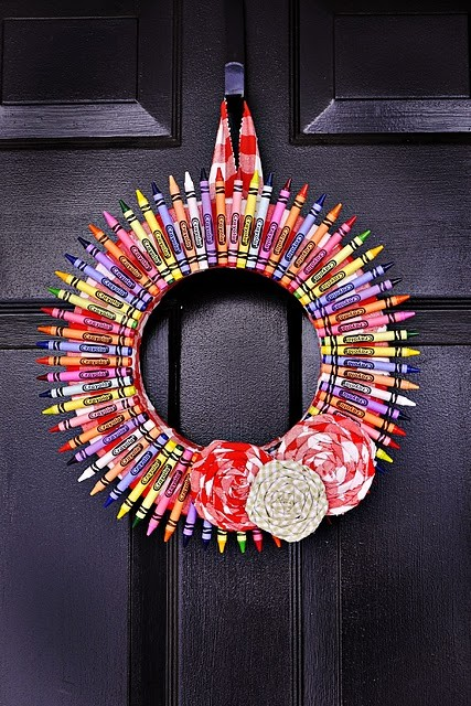 crayon wreath best of office weekend roundup 51