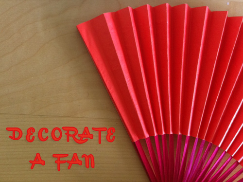 decorate a fan Decorate a Paper Fan