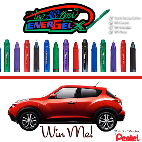 pentel sweeps Win a Car from Pentel!