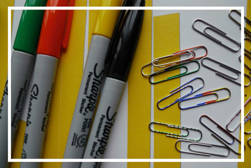 sharpie paper clips spice up your paper clips & thumb tacks with Sharpies