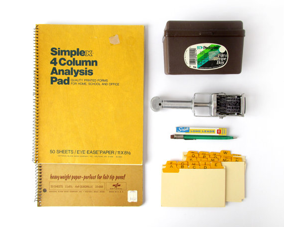 Vintage Office Supplies