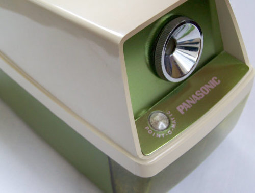 vintage panasonic pencil sharpener green 3 *etsy* office supply find   June 30