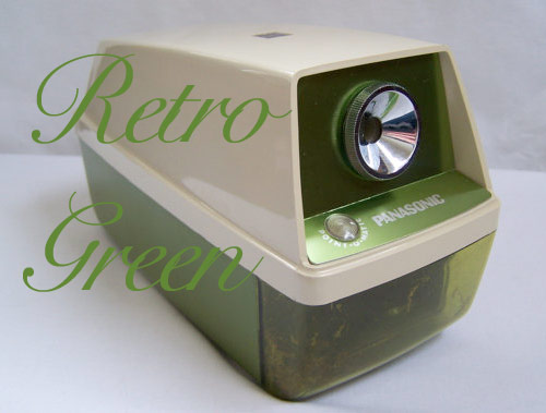 vintage panasonic pencil sharpener green *etsy* office supply find   June 30