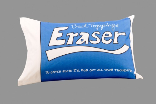 eraser pillowcase 500x333 A Back to School Bed