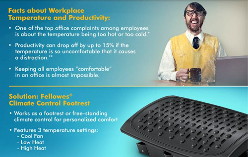 fellowes climate control footrest Cool Down with the Fellowes Climate Control Footrest Giveaway!