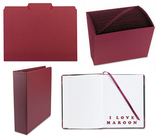 maroon office supplies Maroon Mood