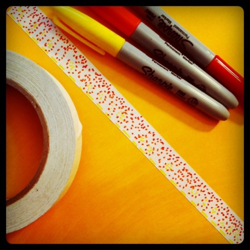sharpies and masking tape 500x500 Fancy Masking Tape