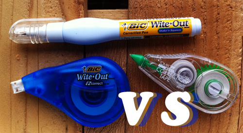wite out reviews Wite Out Vs. Correction Tape Vs. Correction Pens