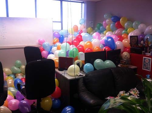 balloon office prank best of office weekend roundup 59