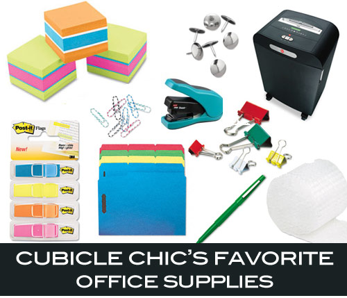 Cubicle chic favorites shoplet for Trendy office supplies