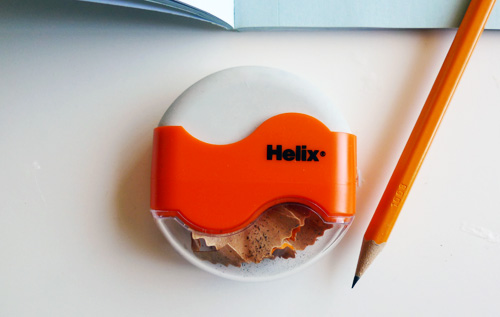 helix pencil sharpener and eraser 2 Pencil Sharpener and Eraser in One