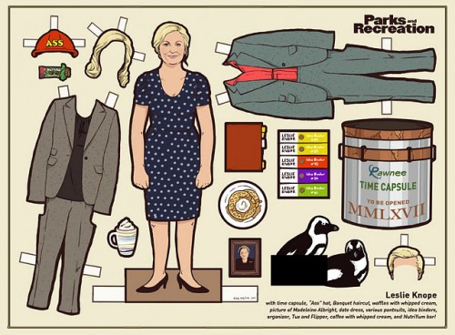 parks and rec paper dolls 500x368 best of office weekend roundup 58