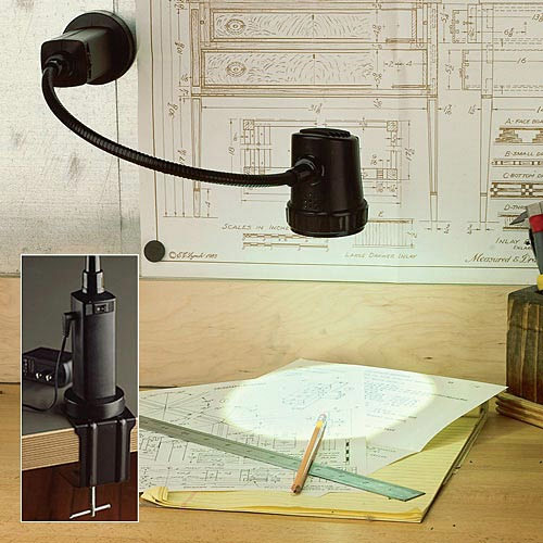 portable workshop lamp Garrett Wade for Your Manly Office