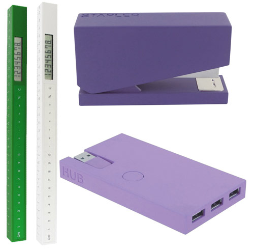 purple green office supplies lexon design for your modern office