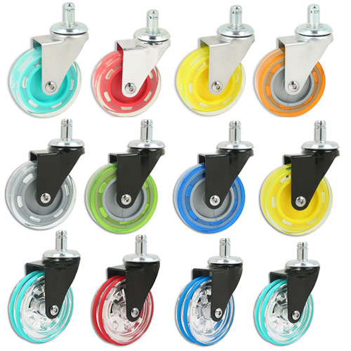 colorful-acrylic-casters