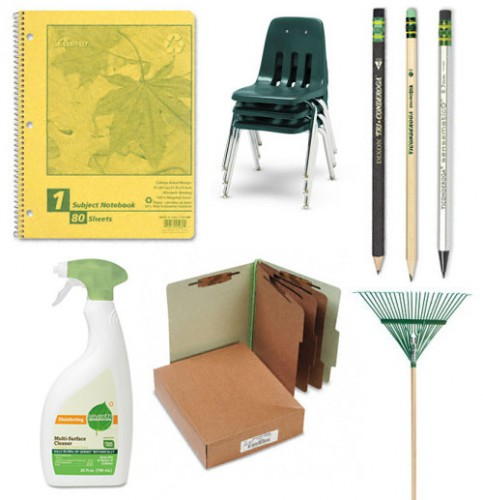 green-brown-office-supplies
