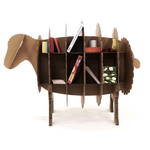 lamp karton cardboard bookshelf Your Karton Cardboard Office