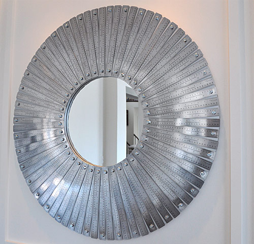 metal ruler mirror Gorgeous Mosaic Mirrors Made with Supplies