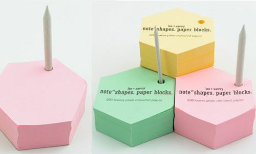 note shapes paper blocks lox & savvy office goodies