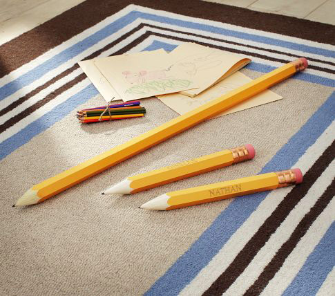 pb kids giant pencils Pottery Barn Kids + PB Teen Supplies