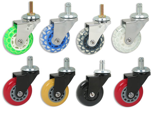 skate wheel casters These Casters Are Eye Candy