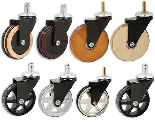 wooden aluminum casters These Casters Are Eye Candy