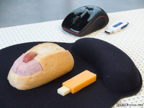 computer mouse usb stick sandwich 500x375 best of office weekend roundup 67