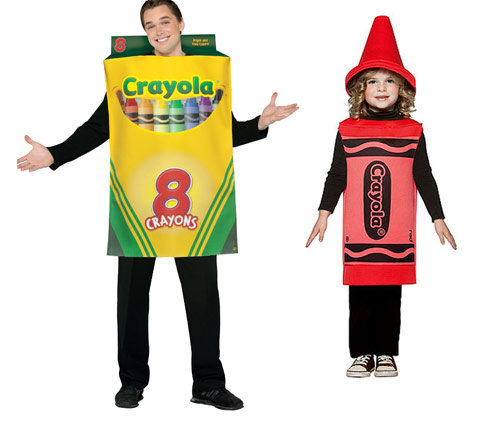 crayon costumes Turn into Office Supplies for Halloween