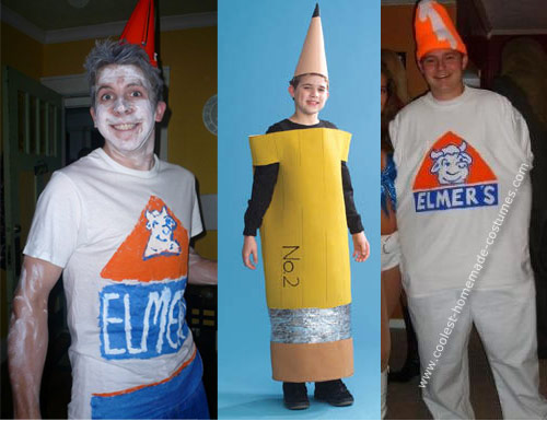 elmers glue pencil costumes Turn into Office Supplies for Halloween