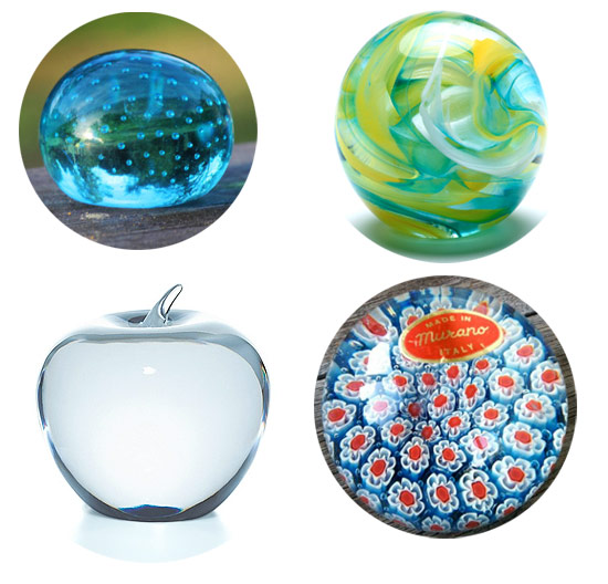 glass paperweights Paperweights