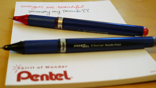 pentel energel reviews make security envelopes into postcards