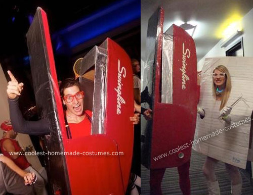 red swingline stapler costume Turn into Office Supplies for Halloween