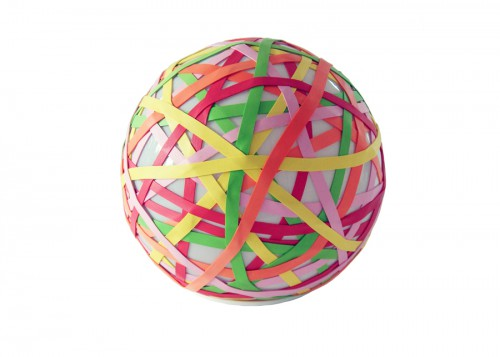 rubber band ball lamp 500x357 best of office weekend roundup 67