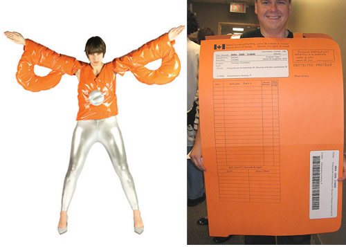 scissor file folder costumes Turn into Office Supplies for Halloween