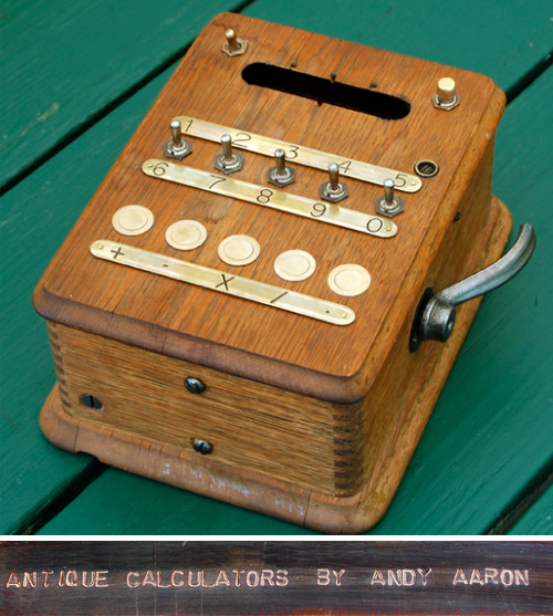 aaron adding machines vintage calculators Antique Calculators by Aaron