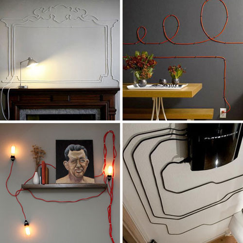 apartment therapy cord decor Your Cords Can Be Art Supplies