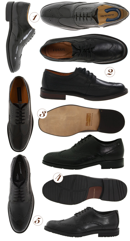 black dress shoes Black Wingtip Shoes for Work