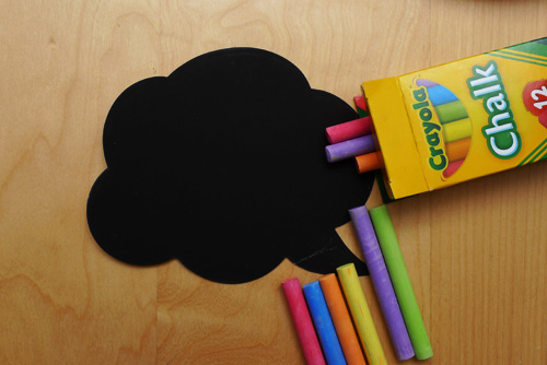 crayola chalk Chalkboard Stickers