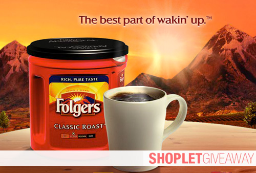 folgers shoplet giveaway Win a Computer Bag Full of Folgers Coffee!