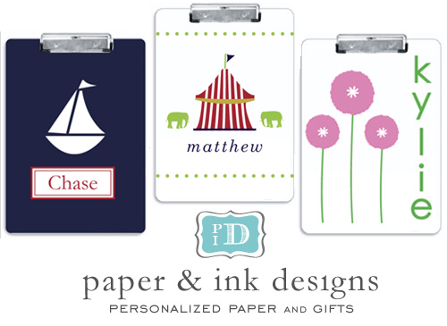 paper ink personalized clipboards Monogrammed Gifts from Paper and Ink