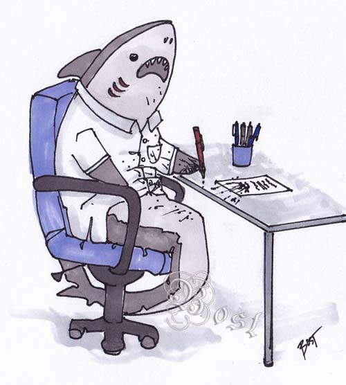 pensplosion Imagine Co Workers Are Sharks