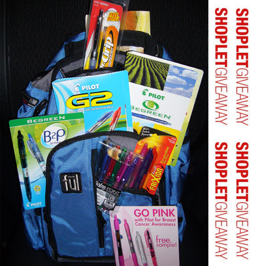 pilot pens giveaway Win a Backpack Full of Pilot Products!
