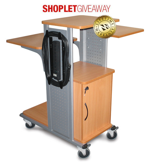 presentation cart giveaway Win an Audio Visual Cart and Stand Combo!