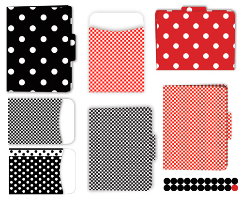red and black and white office supplies Red, Black and White from Barker Creek